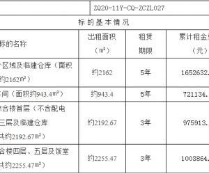 鑫华厂区内四宗物业招租项目挂牌暨电子竞价公告